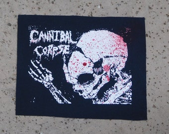 Sew on Cannibal Corpse Butchered at Birth Blood Spatter Gore patch