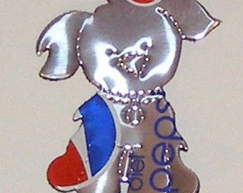 Cutie-Pup - Dog Magnet - Silver Diet Pepsi Soda Can