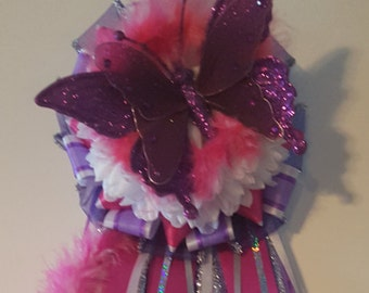 Custom Made Pink and Purple Butterfly Homecoming Mum