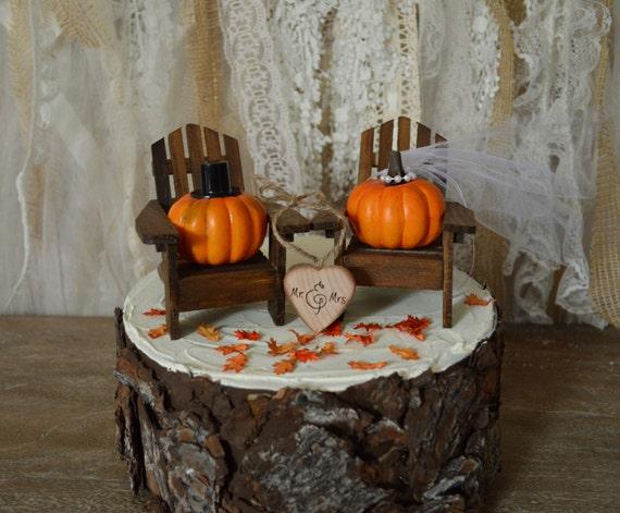 Pumpkin Wedding Cake Toppers