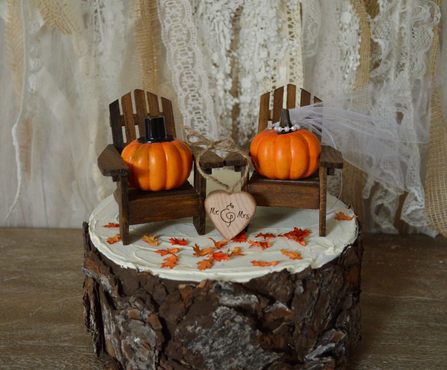 Fall Chairs Cake Topper