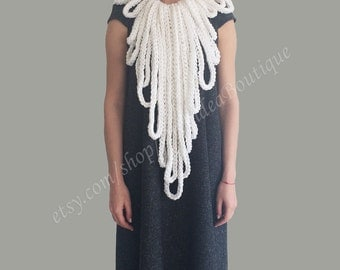 OCTOPUS  Crochet necklace, winter scarf, winter accessories, gift for women, infinity necklace, gift for her, christmas gift, Gift for women