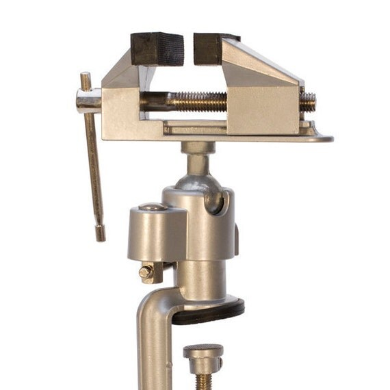 VISE TABLETOP - Rubber Lined Jaws Tilts and Rotates - Hold Your Work Securely -  Jewelry Tools for Metal Work