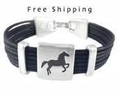 Gift idea, Horse bracelet, Horse jewelry, Cowboy gift, Western jewelry, Cowgirl, Equestrian bracelet, Custom made bracelet, Cuff, Wrap.