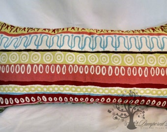 """Colorful Ethnic Stripe Pillow Cover - 12"""" x 26"""""""