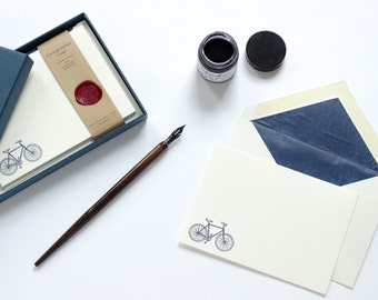 Letterpress Bicycle Correspondence Cards