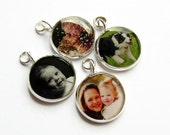 Custom Photo Charm, Personalised Keepsake Jewellery, Photo Jewellery, Bracelet Charm, Photo Pendant, Gift for Mum, Grandma