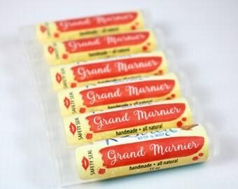 Grand Marnier Lip Balm . Natural Lip Balm . Grand Marnier . Apricot . Lip Butter