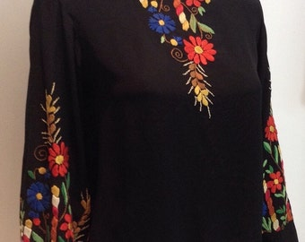 Gorgeous 1930's Embroidered Hungarian Blouse