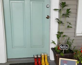 & Front door decal | Etsy Pezcame.Com