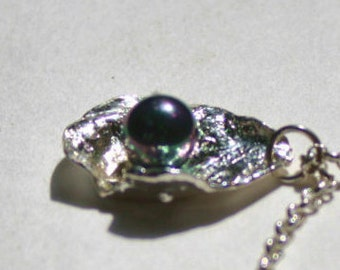 ANNETTE.....Sterling silver and black pearl  pendant....from my Mermaid collection