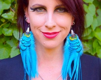 SKY DREAMS Long Feather Earrings SALE