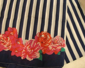 vintage SARAH COVENTRY SCARF stripes and florals long