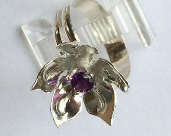 Amethyst Delight Flower Ring