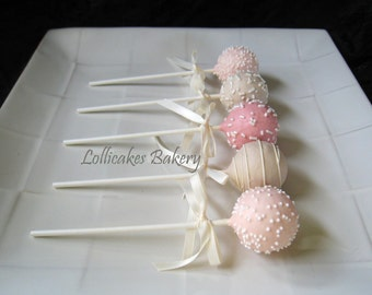 Wedding Favors: Wedding Cake Pops Made to Order with High Quality Ingredients