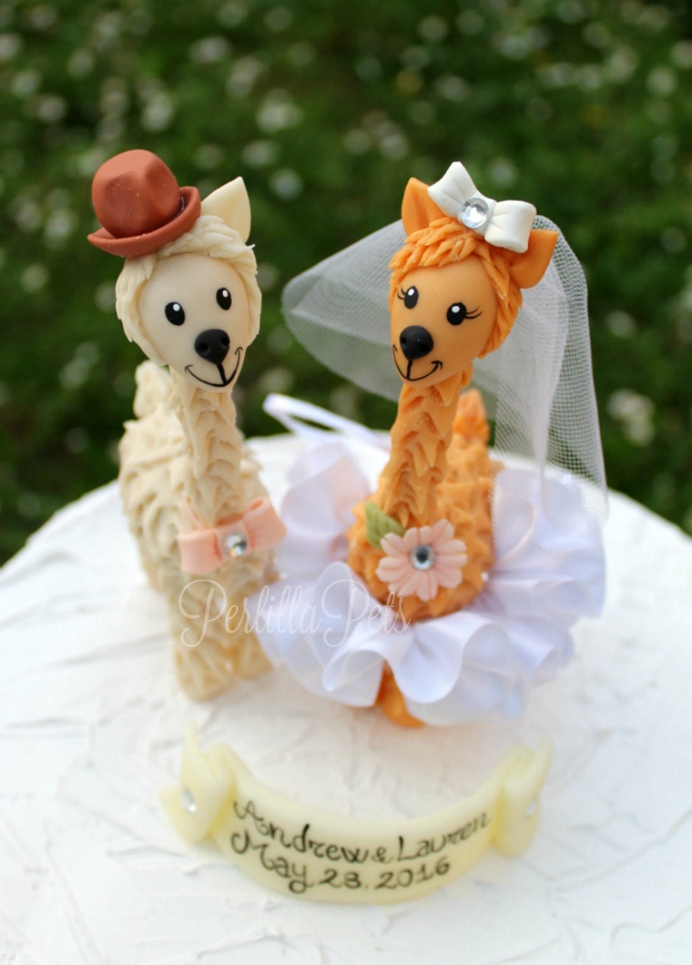 Llama Custom Wedding Cake Topper Wedding Cake Figurines Cute