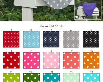MADE TO ORDER Polka Dot Reversible Saddle Cover Many Colors