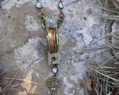 Upcycled Antique Brass Casement Window Pulley Pendant