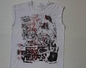 Sid vicious print vest top -Vintage PuNk sleeveless t shirt - Friends of Vicious - Seditionaries Punk Top - Sex Pistols -XS Small