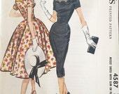 "Vintage 1958 McCall's Misses' Dress Pattern 4587 Size 18 (38"" Bust)"