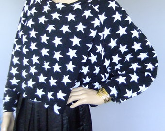 star sweatshirt, BOY london oversized crop top, black and white top