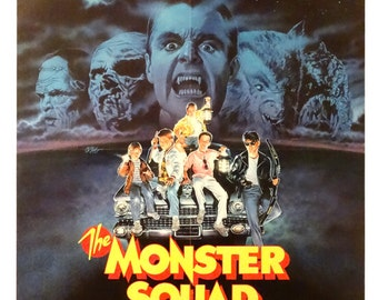 "Monster Squad.Original 1987US 27""x41""Movie Poster. Duncan Regehr(Dracula),Tom Noonan(Frankenstein)Carl Thibault(Wolf Man),Reid MacKay(Mummy)"