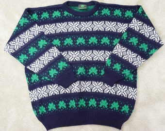 90's Emerald Isle Men's Sweater XXL Made in Ireland