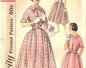 Simplicity 2444 Vintage ©1958 Misses Dress and Jacket Size 11 Uncut Pattern