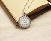 Kurt Cobain Quote Necklace- Wanting to be someone else is a waste of who you are.- Nirvana (Q039)