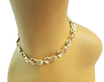 Lisner Necklace Gold Lisner Jewelry Adjustable Choker Necklace Fan Necklace Antique Jewelry Signed Antique Jewellery Gifts For Women Her