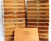 Cigar Box Lot - Padron Monarca - Wood Box - Storage - Crafts - Supplies