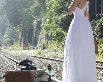 """Robe de mariée en coton  """"Lys"""""""
