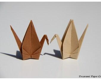 Origami CRanes - 100 units - Peanut or Khaki - shades of brown