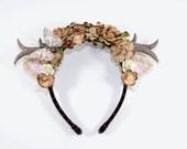 Brown Deer Anthler Headbands-Whimsical -Woodland-Kawaii-Fairy Kei-Sweet Lolita-Brown-Deer Anthlers-Horns