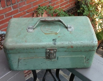 Vintage J.C.Higgins Fishing Tackle Box c. 1960