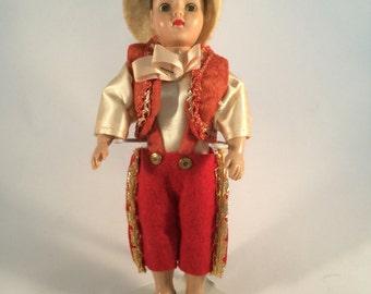 Vintage Duchess Doll Corp  1949 Travel Doll 7 Inch Little Dutch Boy Design Copyright 1949 International Doll