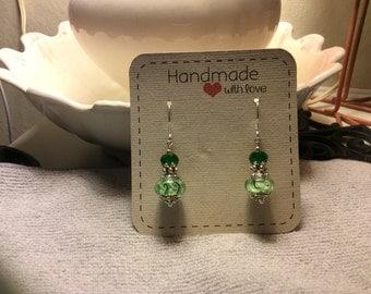Murano Glass Earrings, Lamp Work, Handmade