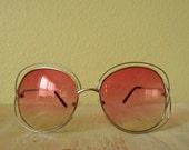 Double Frame Sunglasses | Oversized 1970's Style Sunglasses
