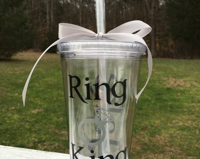 Ring King Tumbler Ring King Cup Wedding Party Cup Ring Bearer Cup Tumbler Personalized Cup Wedding Party Bridal Party Gifts Wedding Favor