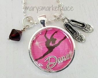 Dance Glass Tile Necklace Gift Set