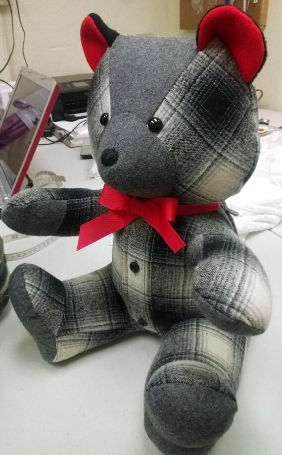 custom memory bears made from old shirts