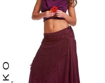 FLAMENCO SKIRT, wrap Skirt, GYPSIE skirt, wraparound skirt, long skirt, goa skirt, psytrance skirt, Jnsklb