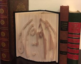 John Lennon Cut and Fold Book Art Imagine Self Portrait