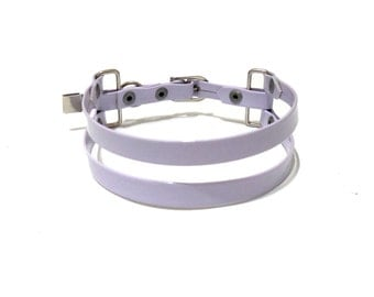 Suspension Collar. Lavender Choker.