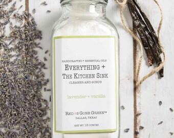 Everything + the Kitchen Sink: Cleaner + Scrub