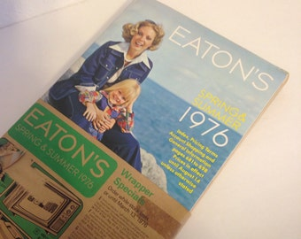 Vintage Eatons Catalog, New in Original Wrapper, Vintage Catalogue, 1970s Catalog, Eatons Canada, 1970s Home and Fashion
