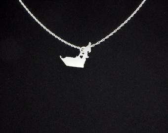 United Arab Emirates Necklace - United Arab Emirates Jewelry - United Arab Emirates Gift - UAE Gift - UAE Necklace