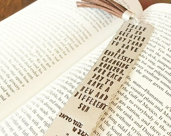 Stamped Bookmark. Personalized Bookmark. Custom Bookmark. Gifts for mom