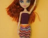 Monster High HOWLEEN & TWYLA knitted skirt and top