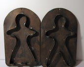Extra Large Oversized Vintage Copper Gingerbread Man & Woman Kitchen Wall Decor